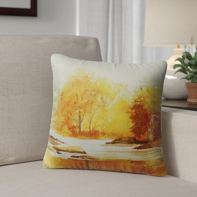 Paxtonville Stream Outdoor Throw Pillow Size: 18 H x 18 W x 6 D