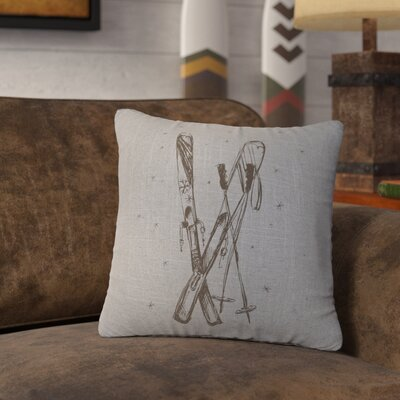Nakamura Ski Throw Pillow Color: Gray