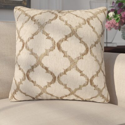 Rania Throw Pillow Color: Gold, Size: 20 x 20