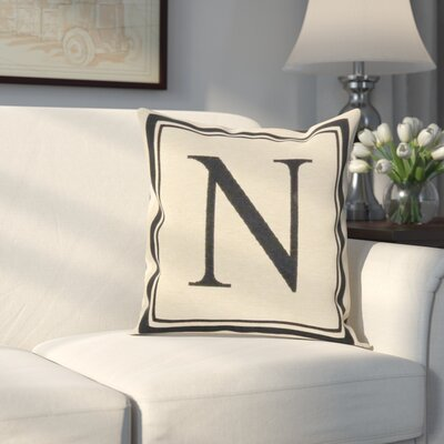 Beaver Creek Monogram Throw Pillow Letter: N