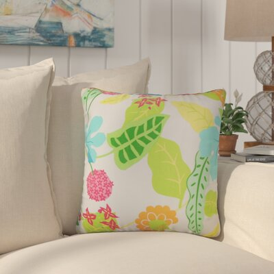Cole Floral Outdoor Throw Pillow Color: Fiesta, Size: 24 x 24