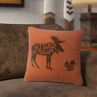 Neale Close to Nature Throw Pillow Color: Paprika