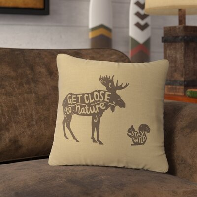 Neale Close to Nature Throw Pillow Color: Straw