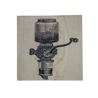 'Coffee Grinder' Graphic Art Print on Wood 6A3CDE7EA7DC432AA273CE6D8CFFC0D3