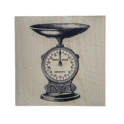 'Kitchen Scale' Graphic Art Print on Wood 497901ABD3C446798E0502FE10C208A3
