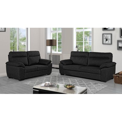 Decius 2 Piece Living Room Set Upholstery: Dark Gray