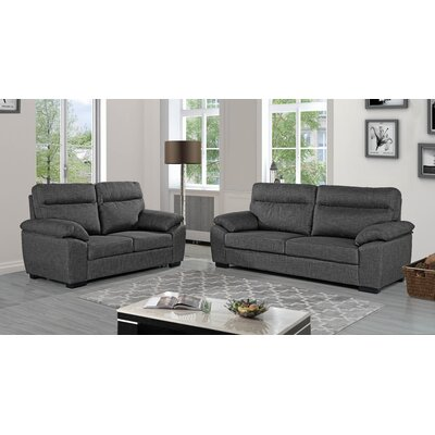 Decius 2 Piece Living Room Set Upholstery: Light Gray