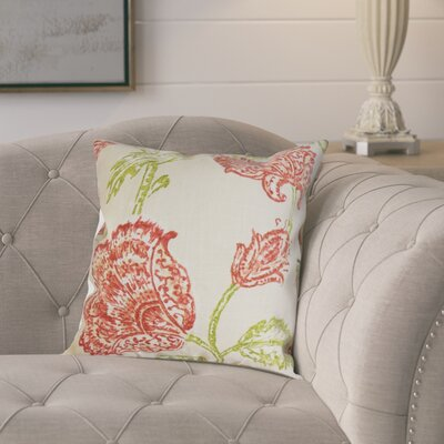Monegro Linen Throw Pillow Color: Natural Pink, Size: 24 x 24