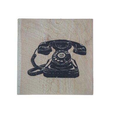 'Telephone' Graphic Art Print on Wood 8698F29C239D4006978E628AD632BDFD