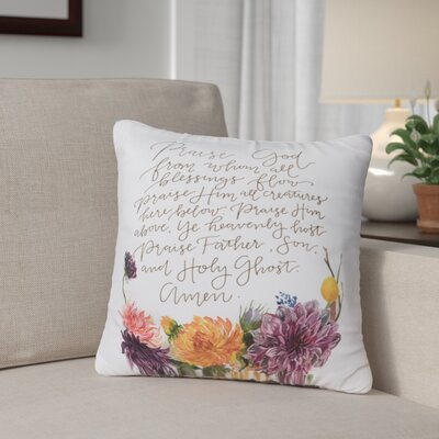 Gracey Doxology Throw Pillow