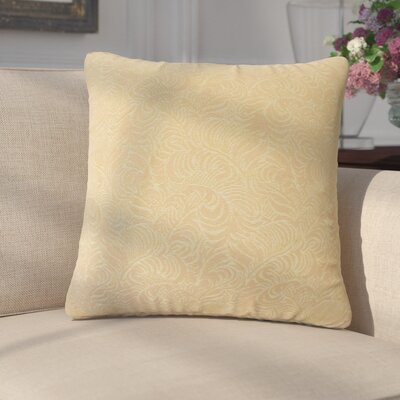 Welker Damask Down Filled 100% Cotton Throw Pillow Size: 18 x 18