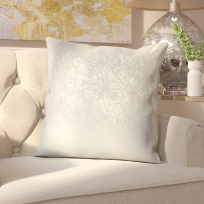 Alejandre Shimmering Metallic Foil Throw Pillow Color: Silver