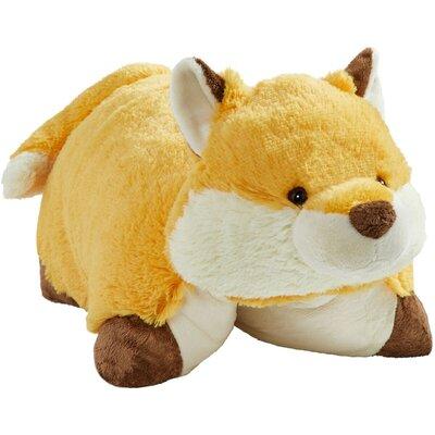 Wild Fox Plush Chenille Throw Pillow