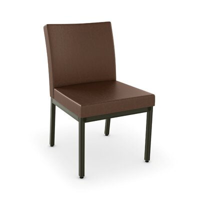 Driggers Upholstered Dining Chair Upholstery Color: Brown/Semi Trans