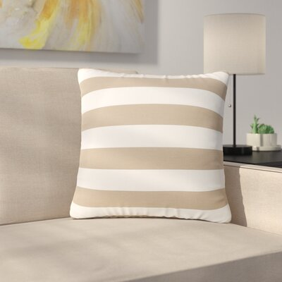 Mayle Square Striped Indoor/Outdoor Throw Pillow Color: Brown