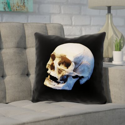 Mensa Skull Square Throw Pillow Size: 18 x 18