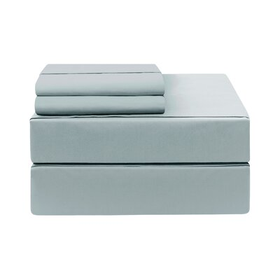 Eckhoff Count Sheet Set Size: Twin, Color: Slate Blue