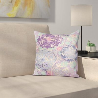 Modern Floral Square Pillow Cover with Zipper Size: 20 x 20