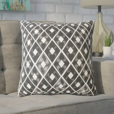 Wiesner Geometric Down Filled 100% Cotton Throw Pillow Size: 18 x 18, Color: Black