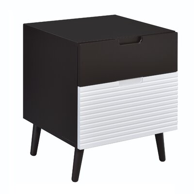 Crume 2-Tone 2 Drawer Nightstand