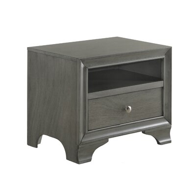 Jared 1 Drawer Nightstand Color: Gray Oak