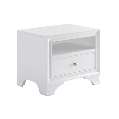 Jared 1 Drawer Nightstand Color: White