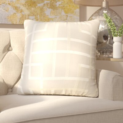 Tai Linen Throw Pillow Size: 18 H x 18 W x 4 D, Color: Light Gray/Beige