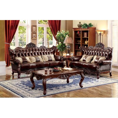 Rommel 3 Piece Living Room Set