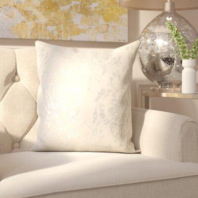Kollman Cotton Throw Pillow Color: Ivory