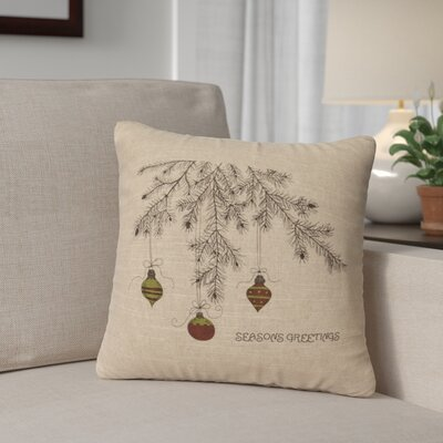 Brownlee Bulbs Throw Pillow Color: Natural