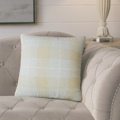 Racioppi Plaid Down Filled Throw Pillow Size: 18 x 18
