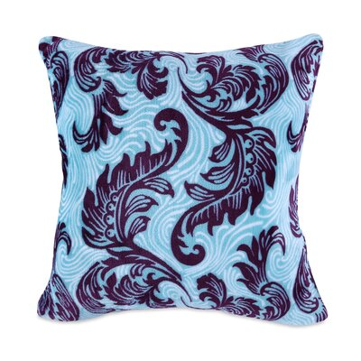 Damask Scroll VelvetLoft Throw Pillow Color: Damask Purple