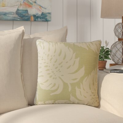 Maiah Floral Down Filled Throw Pillow Size: 22 x 22, Color: Palm