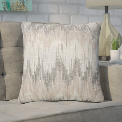 Wiegand Ikat Down Filled Throw Pillow Size: 24 x 24, Color: Driftwood