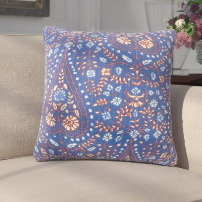 Zyra Down Filled 100% Cotton Throw Pillow Size: 24 x 24, Color: Indigo