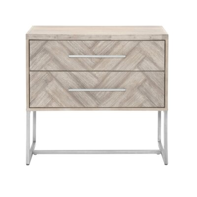 Fishel 2 Drawer Nightstand