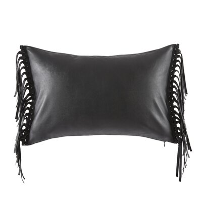 Vitale Faux Leather Throw Pillow