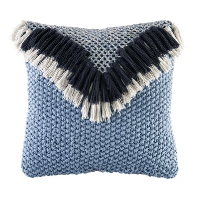 Peele Knit Cotton Throw Pillow