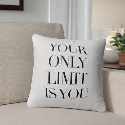 Camara Only Limit Indoor/Outdoor Throw Pillow Size: 24 H x 24 W x 8 D