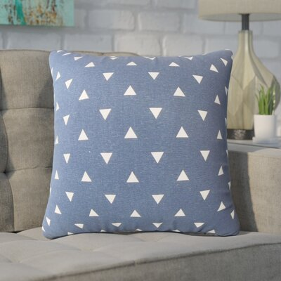 Wight Geometric Down Filled 100% Cotton Throw Pillow Size: 18 x 18, Color: Indigo