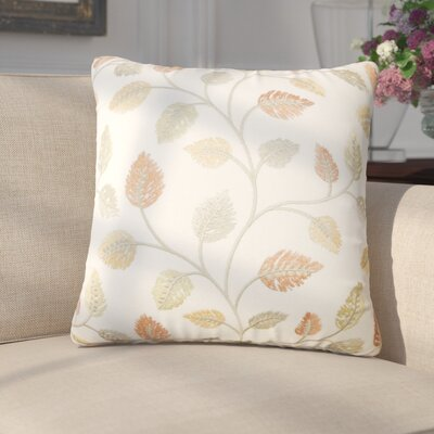 Storm Floral Down Filled 100% Cotton Throw Pillow Size: 22 x 22, Color: Amber