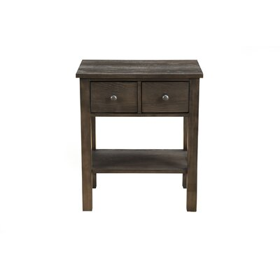 Burgundy 2 Drawer Nightstand Color: Salvaged Gray