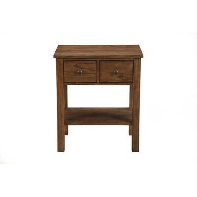 Burgundy 2 Drawer Nightstand Color: Toffee