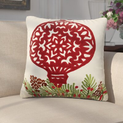Darcio Applique Ornament 100% Cotton Throw Pillow