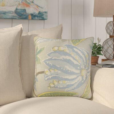 Bryleigh Floral Cotton Throw Pillow Color: Rain, Size: 20 x 20