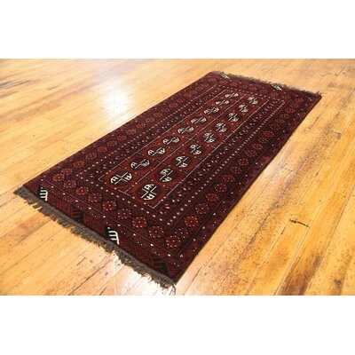 One-of-a-Kind Batchelder Hand-Knotted Wool Red Area Rug Size: Rectangle 34 x 67