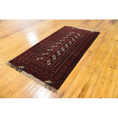 One-of-a-Kind Batchelder Hand-Knotted Wool Red Area Rug Size: Rectangle 34 x 63