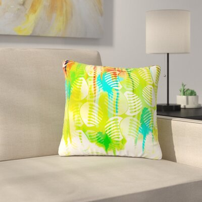 Dan Sekanwagi Poddy Combs - Wet Paint Outdoor Throw Pillow Size: 18 H x 18 W x 5 D