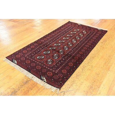 One-of-a-Kind Batchelder Hand-Knotted Wool Red Area Rug Size: Rectangle 35 x 63