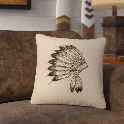 Naccarato Headdress Throw Pillow Color: Natural